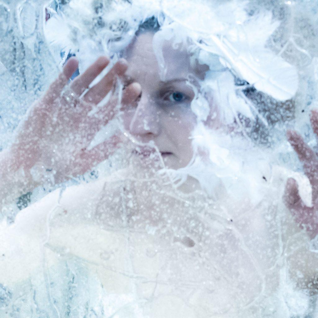 The Ice Queen peers through the ice - 'In-between Book' - Kate George + Julie Mcguire Edinburgh
