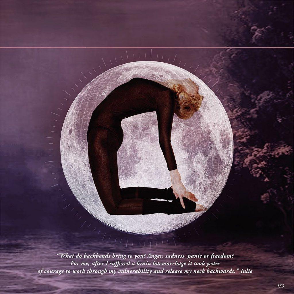julie yoga pose camel-inbetween-book